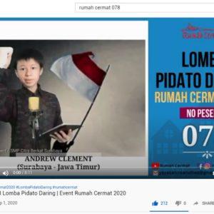 LOMBA PIDATO DARING RUMAH CERMAT 2020